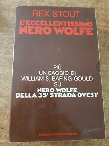 REX STOUT- NERO WOLFE  L'eccellentissimo Omnibus box