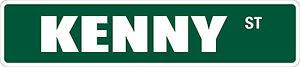 "*Aluminum* Kenny 4"" x 18"" Metal Novelty Street Sign  SS 2181"