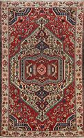 Antique Tribal Geometric Bakhtiari Area Rug Handmade Wool Oriental Carpet 5x7 ft