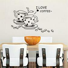 """""""I LOVE COFFEE""""Wall Sticker Coffee House Home Decoration Removable Art Decals LG"""