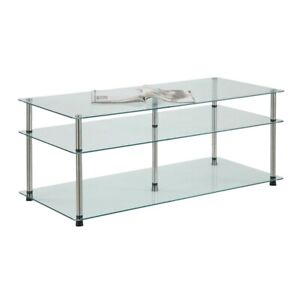 Convenience Concepts Designs2Go 3 Tier Coffee Table, Glass - 157459
