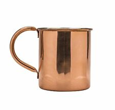 Moscow Mule Solid Copper Mug with Handle, Original Drinking Beverage Cup