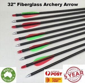 "NEW 31"" FiberGlass Arrows 15-80lb Archery Hunting Compound Bow Fiber Glass"