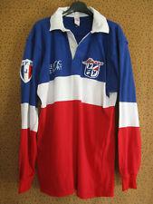 Maillot Rugby EQUIPE de FRANCE UNSS Le Roc Sport vintage FFR Shirt - XL