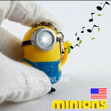 Minions Movie Despicable Me #1 Sound and LED Light Keychain Gift Free Ship New