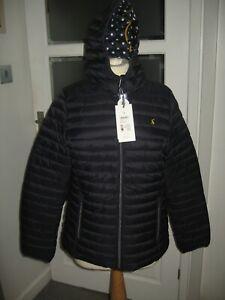 Joules Snug Padded Jacket, Marine Navy in UK Size 14 / 16