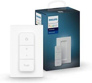 Philips Hue Dimmschalter weiß kabellose Lichtsteuerung Dimmbar Ohne Installation