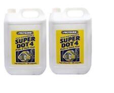 2x Polygard Mis10410 Super Dot 4 Brake & Clutch Fluid 5 Litre