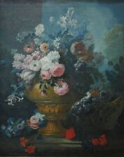 """high quality oil painting  handpainted on canvas """"vase and flower basket  """""""