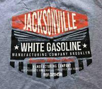 Vintage T Shirt Jeksonville White Gasoline Brooklyn - Grey Large