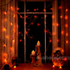 Halloween Spooky Orange Curtain Lights 50pk