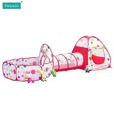 Pericross® 3-Teilig Kinder Zelt Krabbeltunnel und Bällebad mit Basketball Box
