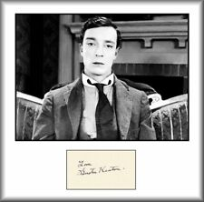 BUSTER KEATON - COMEDY LEGEND - RARE - HAND SIGNED AUTOGRAPH