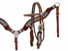 Showman ® Crystal rhinestone headstall and breast collar set.