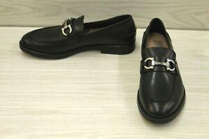 Salvatore Ferragamo Arlin Bit Buckle Loafer - Men's Size 8 E, Black Leather NEW