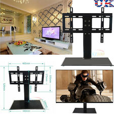 """26""""-32"""" Cantilever Black Glass TV Stand with Bracket for Plasma LCD LED UK Stock"""