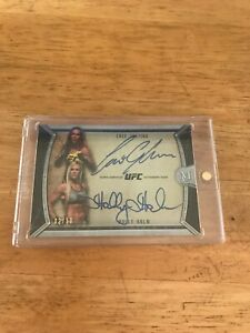 2018 Topps UFC Museum Collection HOLLY HOLM,Cris Justina 02/10 Dual Auto Card🔥
