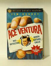 Ace Ventura Deluxe Double Feature DVD 3-Disc Set Pet Detective When Nature Calls