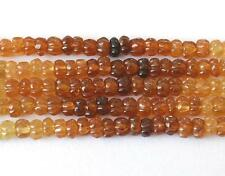 "16"" STRAND HESSONITE GARNET CARVED BEADS 5.5 MM (1 Line) NATURAL GEMSTONE #3242"