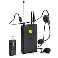 Portable Wireless Lavalier Microphone System For iPhone 7 Plus / iPhone 7