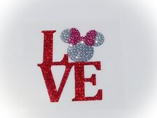 I Love Minnie Mouse Inspired Rhinestone Glitter Bling Car Window Decal Sticker