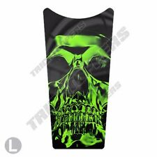 Custom Gas Tank Dash Console Insert Decal for 87-07 Harley Touring GREEN SKULL