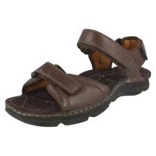 Sandali con cinturino marrone con a strappo per il mare da uomo