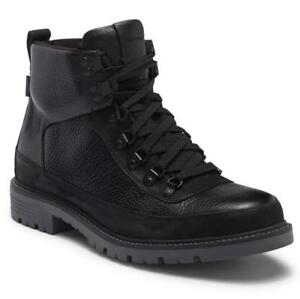 $350 - COLE HAAN Keaton Hiker II Waterproof Black Leather Boot Size 9.5