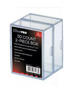 More details for ultra pro 2 pack 2-piece 50 count clear card storage box gaming box new&sealed