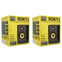KRK Rokit 5 Gen 4 RP5G4 Powered Studio Monitor 5-inch Woofer - Pair - Black