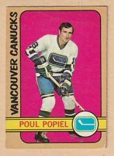 HOCKEY CARD NHL 1972-73  POUL POPIEL  VANCOUVER CANUCKS  OPC  #67