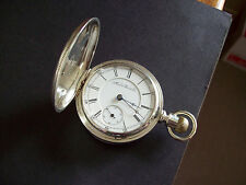 18s Aurora Watch Co Adjusted 15 Jewel RR Grade Hunter Pocket Watch