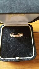 Beautiful 9ct Gold and Diamond Eternity Ring. Size J. Beaverbrooks.