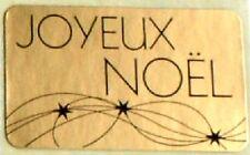 15 Etiquettes autocollantes stickers cadeaux  JOYEUX NOEL Doré - Ref ROM6