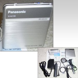 Panasonic SJ-MJ100 Portable MD Player w/ Earphone, Remote from Japan New Battery