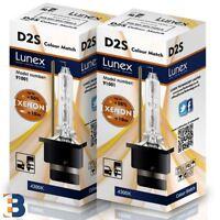 2 x D2S Genuine LUNEX HID XENON BULB P32d-2 Original 35W 4300K Colour Match +50%