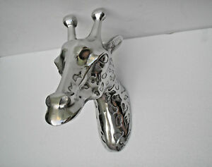 Giraffe Head Figurine Sculpture 35 cms us