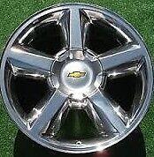 Chevrolet Wheel Rim Avalanche Silverado Tahoe Suburban chrome alloy