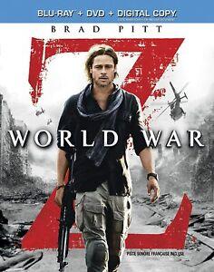 WORLD WAR Z (BLU-RAY + DVD + DIGITAL COPY) – EXCELLENT CONDTIION