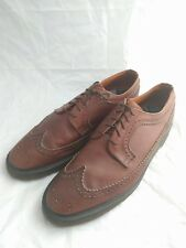 Dr Martens For John Fluevog Brown Leather Brogue Oxford Shoes Size US13