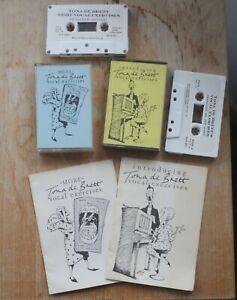 Tona De Brett Voice / Vocal Exercise Tuition Tape Cassettes & Instruction Books
