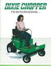 Lawn Equipment Brochure - Dixie Chopper 5018 Magnum Riding Mower c1985 (LG110)