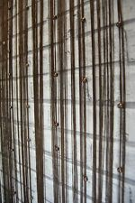 String Curtain Panel 90 cm wide x 200 cm long Brown with brown bead detail