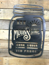 Mason Jar Cut from 14ga Moonshine, ball jar, home decor, jar lovers, der