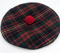 Triminingham's Scottish Clan Tam 100% Pure Wool Tartan Beret Hat
