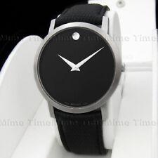 Men's Movado MUSEUM CLASSIC Black Dial 40mm Leather Swiss Quartz Watch