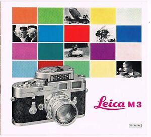 LEICA M3 brochure/leaflet/Prospekt   - 20 pages / Seiten  - 1960