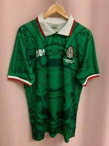 MEXICO NATIONAL TEAM 1998 HOME FOOTBALL SHIRT JERSEY CAMISETA SIZE XL ABA SPORT