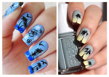 1 Foglio(#HOT172) Nail Art Water Transfer Stickers-SUMMER-FANTASIA MARINA-PALMA!