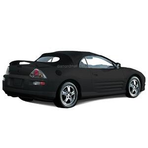 Mitsubishi Eclipse 2000-2005 Convertible Soft Top & Glass window Black Twill